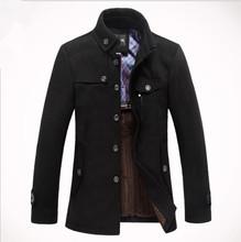 Hot men's winter warm casual jacket windproof warm coat Free Shipping(China (Mainland))