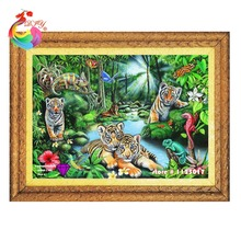 New Arrival 5D DIY Diamond Painting Animals tiger Embroidery Mosaic Handmade Of Cartoon For Home Decoration tiger hobby crafts(China (Mainland))