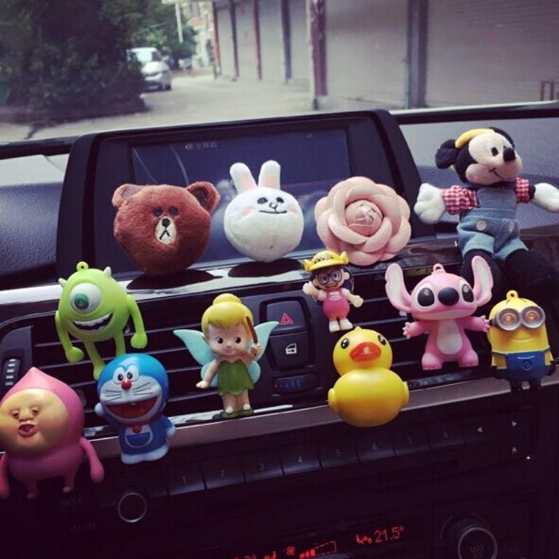 1pcs animal cartoon car Perfume mini doll solid Air Freshener girl car styling(China (Mainland))