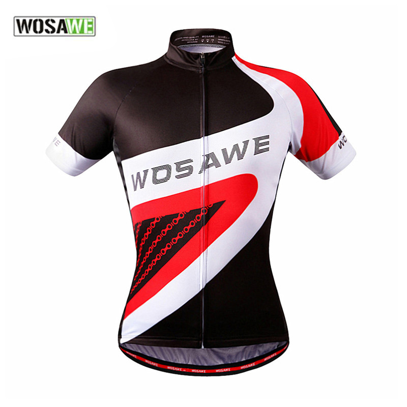 WOSAWE Outdoor Sportswear Ropa MTB Road Bike Bicycle Bicicleta Cycling Cycle Clothing Short Sleeve Jersey Tops  -  GOODGOODS Co., Ltd store