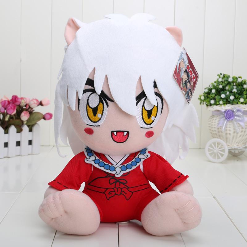 12'' Japanese Anime Inuyasha Plush Toy Plush Doll Figure Toy Chritmas Gift retail(China (Mainland))