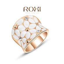 ROXI new arrival beautiful follower rings for girl&lover fashion rose gold plated wedding/engagement rings 2010422325