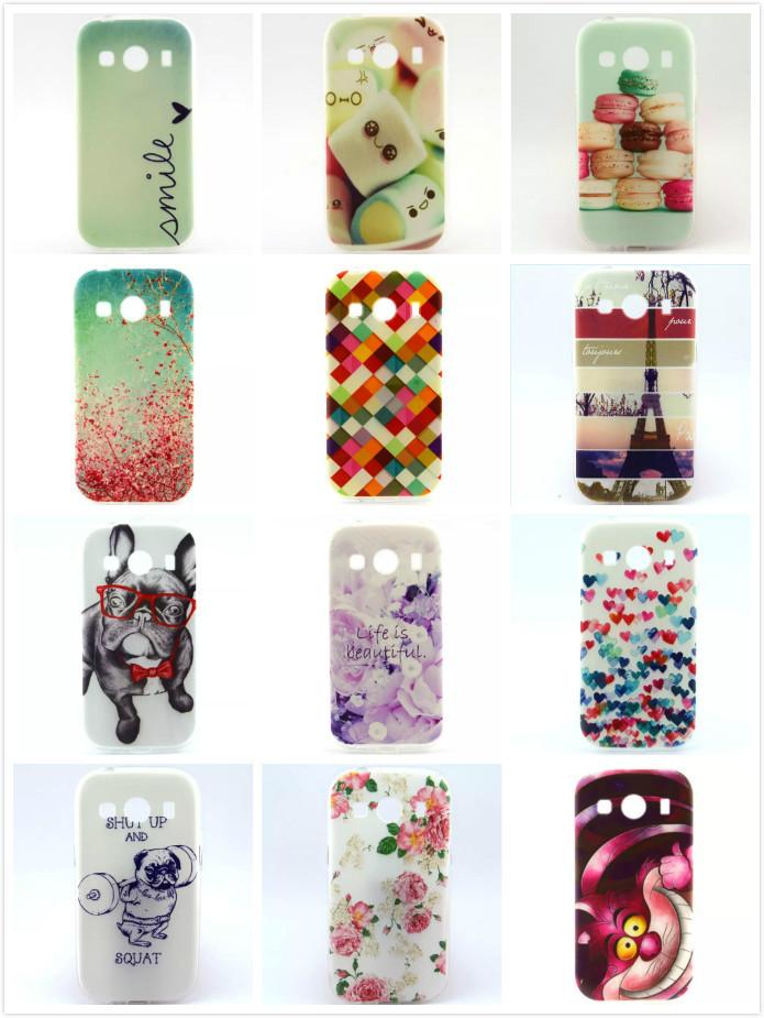 Гаджет  Fashion Pattern design Soft TPU Rubber Case Back Cover Skin Pouch For Samsung Galaxy Core 2 G355H Core2 II G355 None Телефоны и Телекоммуникации