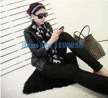 New European Style Fashion Print Silk Scarf Women Adult Skull Kito Pattern Pashmina Brand Chiffon Muffler