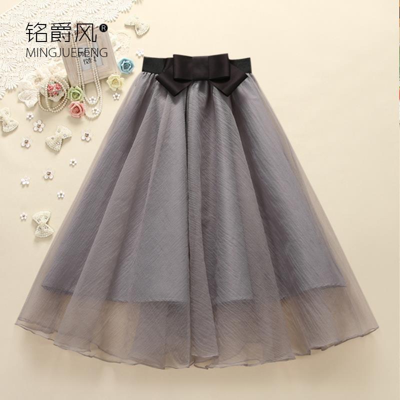 2016 spring was chiffon skirts sexy perspective lei mesh yarn skirt tutu woman(China (Mainland))