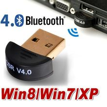 Free shipping Mini USB Bluetooth V4.0 Dongle Dual Mode Wireless CSR V 4.0 Adapter Support Voice Data For Win 7 8 XP 25