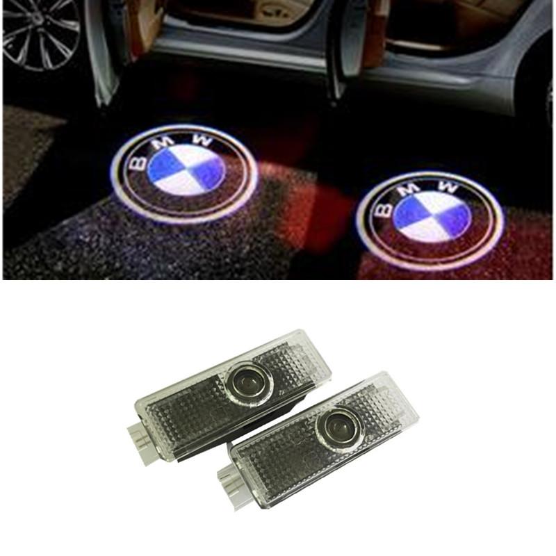 2x Car LED Door Logo Projector Ghost Shadow Light For BMW M3 M5 E60 E90 F10 E63 F30 E64 E65 E86 E92 E85 E93 E61 F01 F02 GT(China (Mainland))