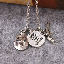 Europe And America Hot Movie The Walking Dead Necklace With Gun Hat Letters Keep Calm And