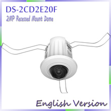 English version DS-2CD2E20F 2.0MP Recessed Mount Dome IP CCTV CAMERA Support DC12V and PoE power supply(China (Mainland))