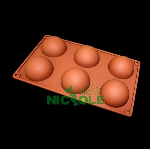 Free shipping (10pcs/lot) DIY silicone molds for cake chocolate semi-cirle shaped soap mould polymer clay tools resin mold(China (Mainland))