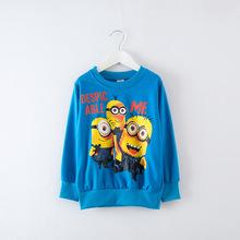 New Autumn Kids T-Shirt Fashion O-Neck Character print full sleeve Baby Boys hoodies, Sweatshirts Clothes 2-8 Age Cotton T-Shirt(China (Mainland))