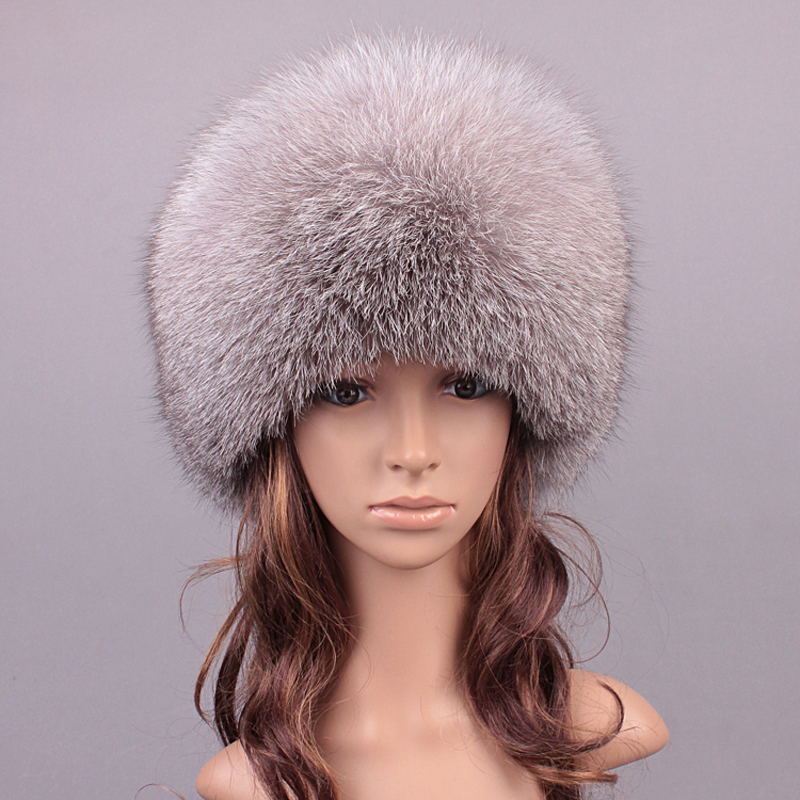 Winter Real Fur Hats For Women Fox Fur Girls Hat Patchwork Casual Warm Lovely Caps Beanies Women 2016 New Russian Hat(China (Mainland))