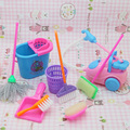 5pcs/set Cute Mini Baggage for Barbie Dolls Equipment Randomly Decide