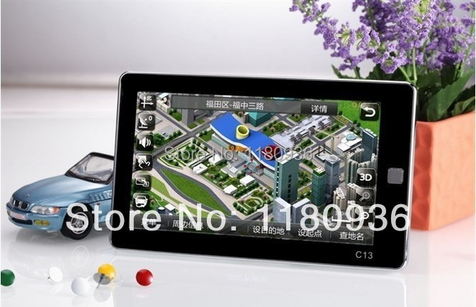 5 inch car styling gps navigator navigation system mp3 mp4 fm touch screen newest map preload(China (Mainland))