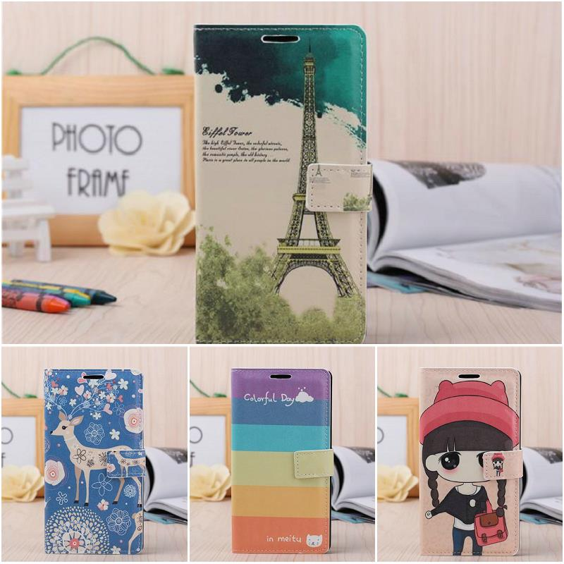 For Meizu mx4 Leather Cases Stand Wallet Card Slot Bag Girl Sika Eiffel Tower Individuality Hard Cover Flip Case For Meizu MX4(China (Mainland))