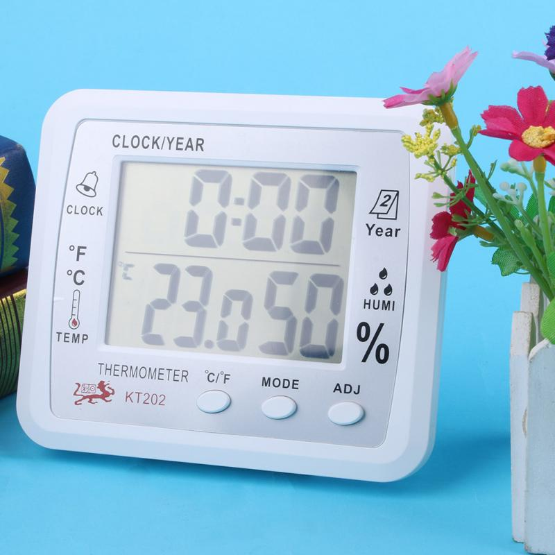 Indoor Temperature Humidity Display Digital Hygrometer Thermometer Humidity Meter 1pc White<br><br>Aliexpress