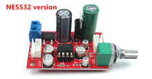 high quality NE5532 / AD828 Op amp preamp board Single-supply operation Amplifier preamp module With volume potentiometer(China (Mainland))