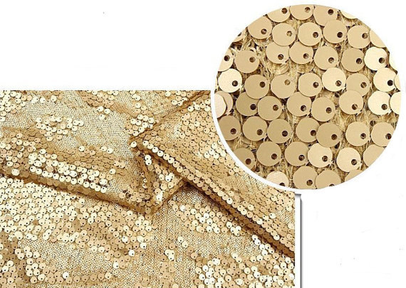 Gold Sequin Fabric Super Luxury Wedding Bridal Gown Dress Fabric Shower Lace Fabrics MF090