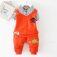 Девочки-младенцы и мальчики комплект весна / осень спорт костюмы мальчик толстовки пальто + брюки дети свободного покроя комплект дети одежда комплект