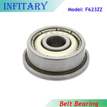 F623ZZ 3*10*4mm Belt Bearing Flange Bearings F623 3D Printers Connected TO Timing Belt for 3D Printer Reprap Prusa I3