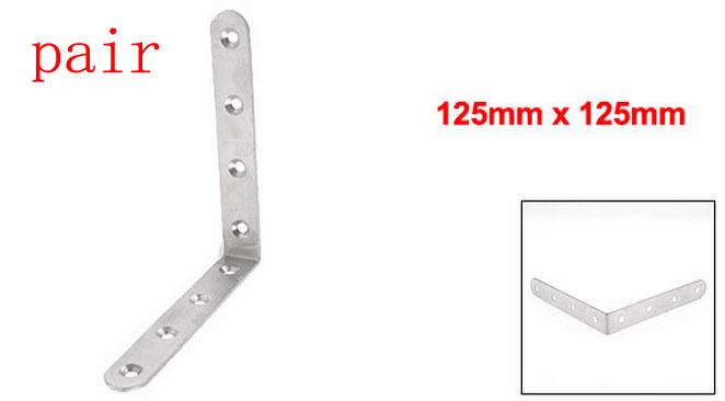 125mm x 125mm Right Angle Stainless Steel Corner Bracket 2pcs(China (Mainland))