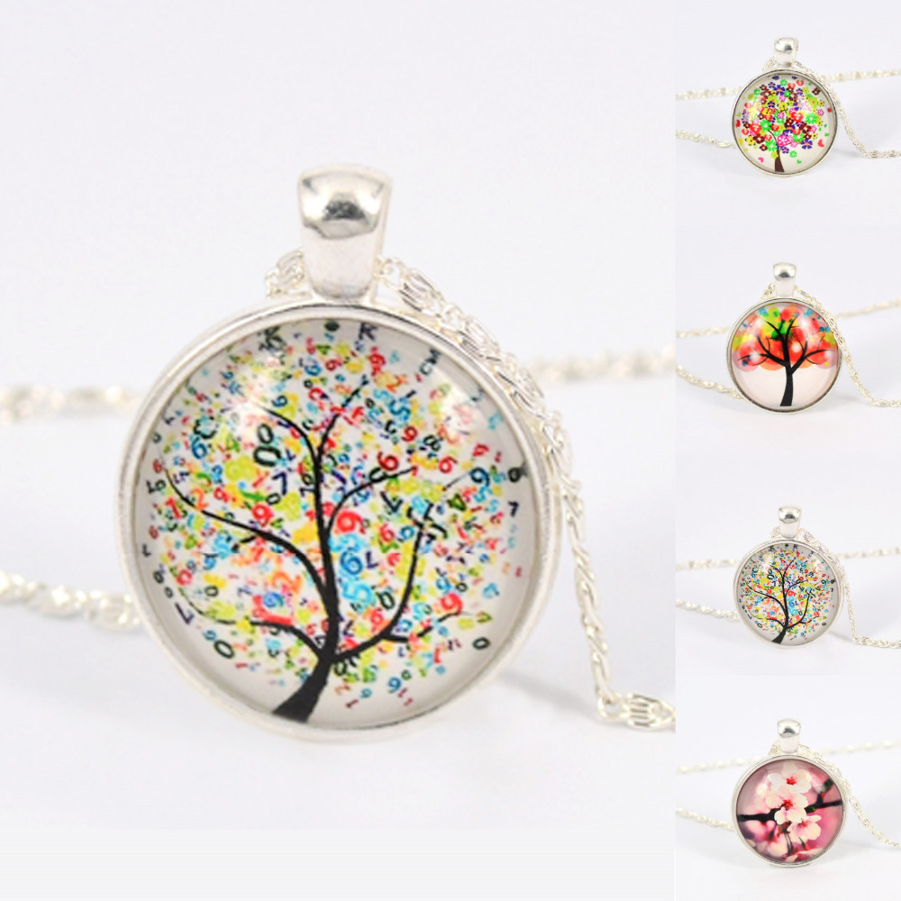 Гаджет  Hope Necklace Hope Dream Tree Pendant Necklace Glass Cabochons Family Necklace Romantic Lover Gifts None Ювелирные изделия и часы