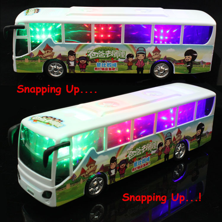 Special offer the latest hot toys universal electric music bus electric model toys light music give the best gift to children(China (Mainland))