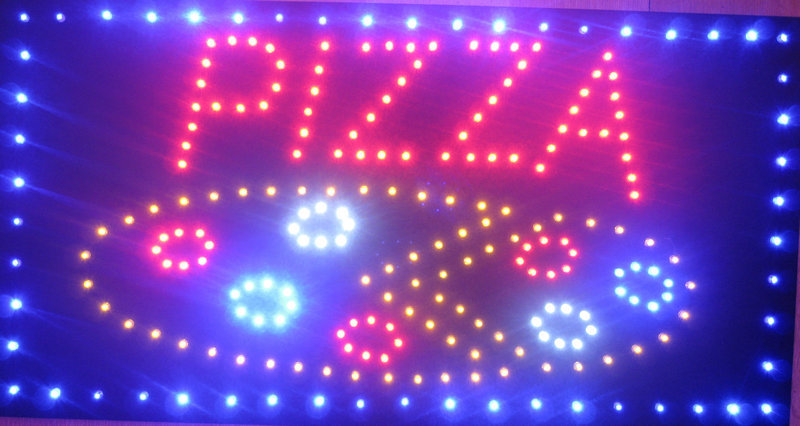 2015 factory direct low-power high brightness pizza shop signs to attract customers led neon billboard sign(China (Mainland))