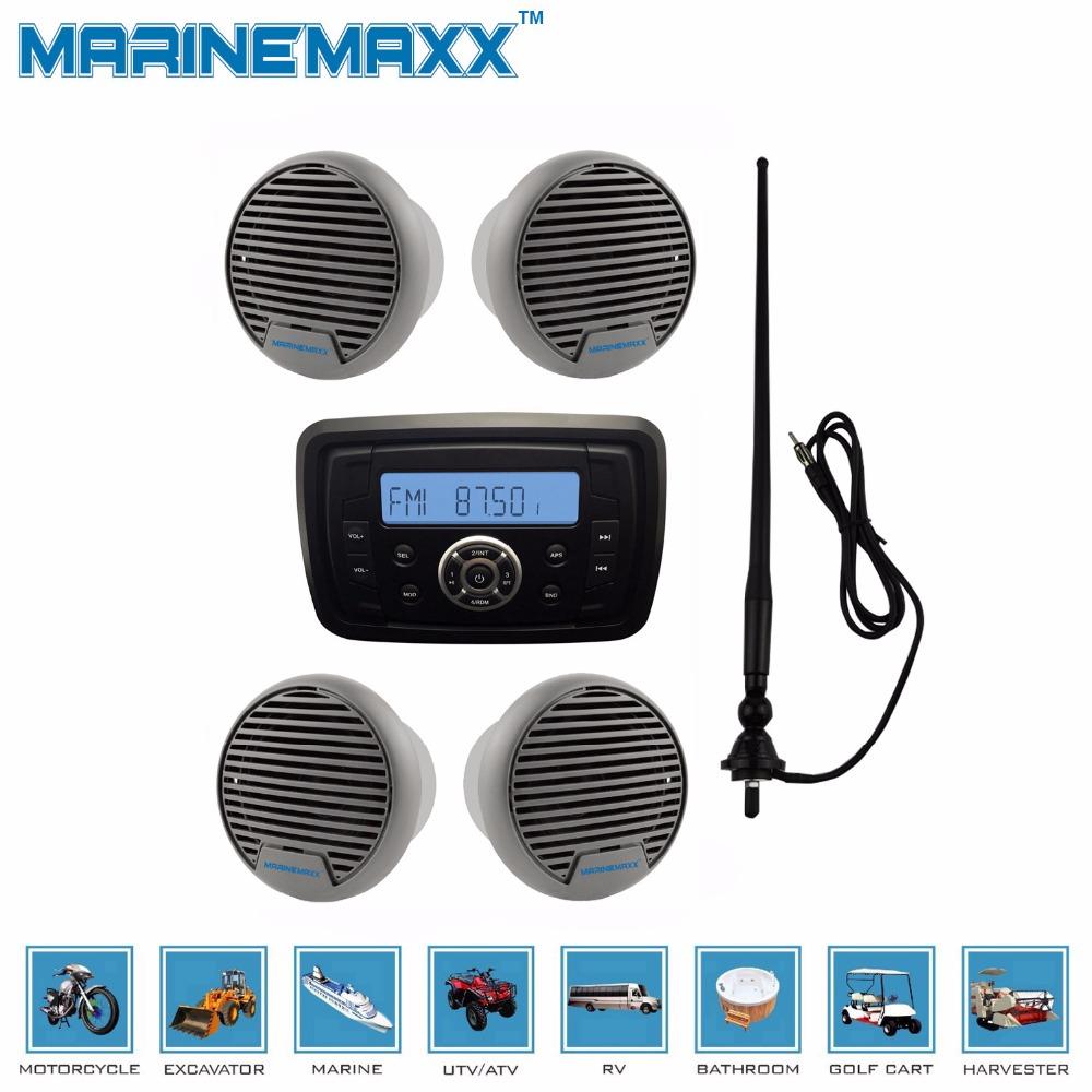 Waterproof Marine Radio Audio Stereo Receiver Sound System MP3 FM AM With Bluetooth Function+3 inch marine Speaker+ Antenna(China (Mainland))
