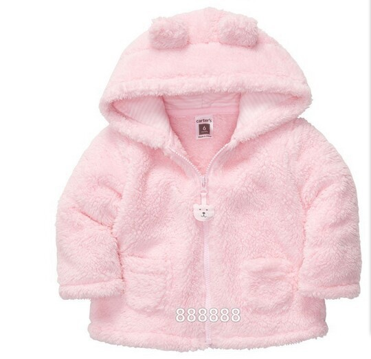 2014 spring autumn Coral velvet baby jacket/coat long-sleeved hooded infant boy girl carter thick tops - Online Store 416591 store