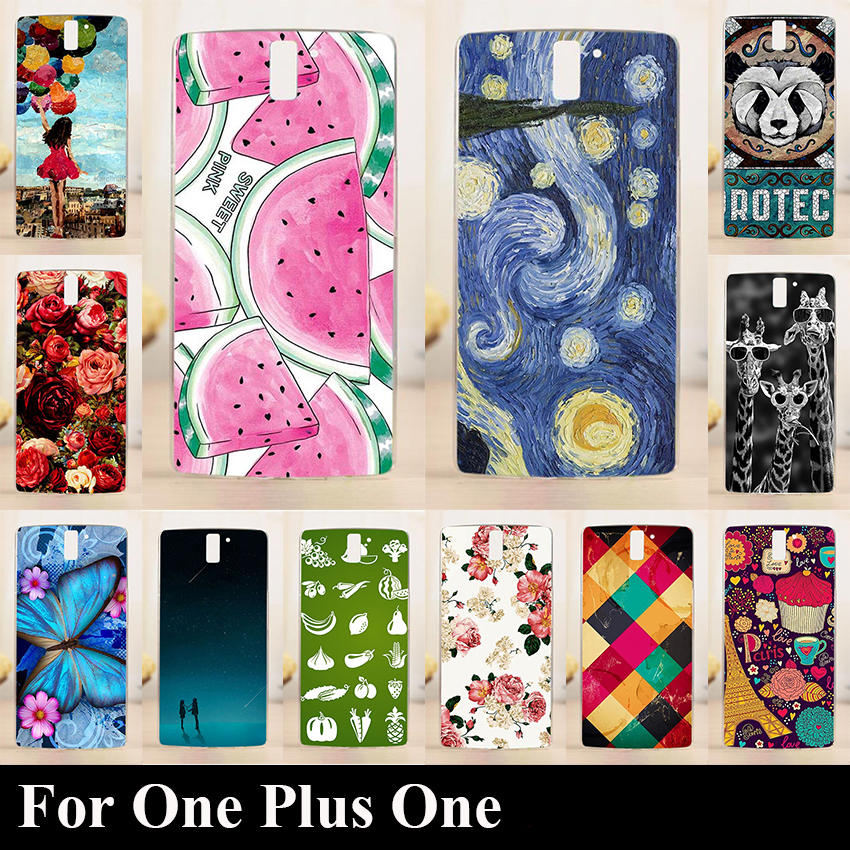 One Plus one Hard Plastic Mobile Phone Cover Case DIY Color Paitn Cellphone Bag Shell OnePlus 1 cases