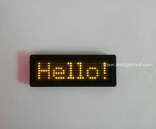 yellow Scrolling Message LED Name Badge With USB Software Programmable Scrolling Marquee LED Name Tag(China (Mainland))