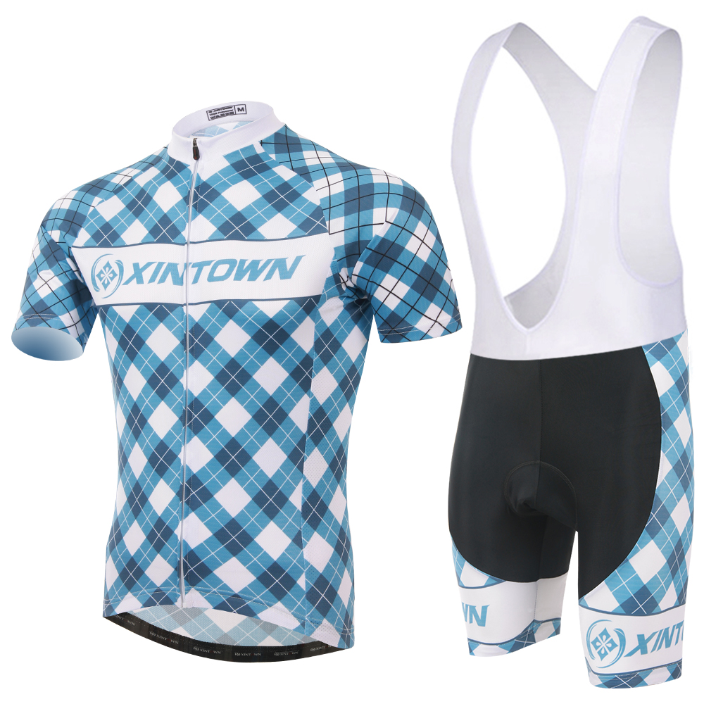 Lattice Men Cycling Sets Short Sleeve Mtb Clothing Masculino Ropa Ciclismo Bicycle Bike Sportswear Bib Short Kit Charger(China (Mainland))