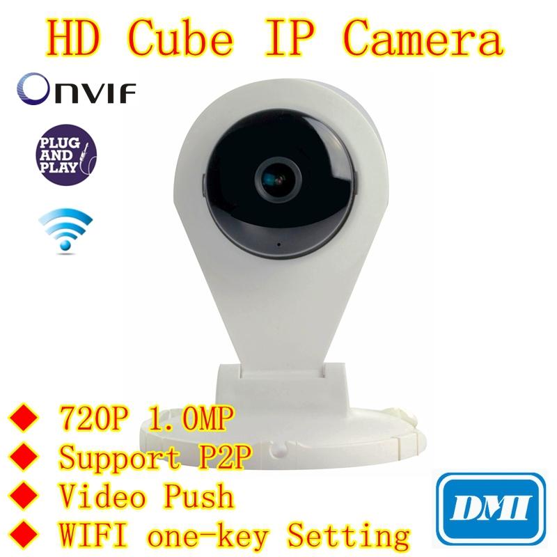 720P 1.0MP Mini IP Wifi Camera Two Way Audio SD TF Card Slot IR Cut H.264 P2P ONVIF Pan/Tilt Home Surveillance CCTV Cameras(China (Mainland))