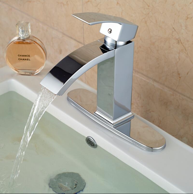 Single hole bathroom sink faucet