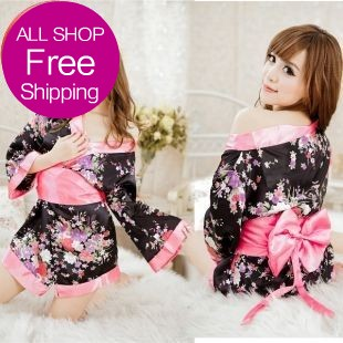 Erotic Lingerie Lace Offer Sexy Lingerie Hot Underwear Female Japanese Kimono Stage Clothes Bar Ktv Hotel Sauna Miss 2014 New(China (Mainland))