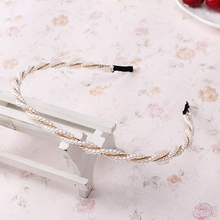 Buy Fashion Pearl Metal Alloy Hair Band Female hair Hoop Band Lovely Headband Hairband Headwear girls hair accessories women for $1.16 in AliExpress store