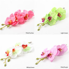 Colorful Bridal Wedding Orchid Flower Hair Clip Barrette Accessories Hairpin HQ