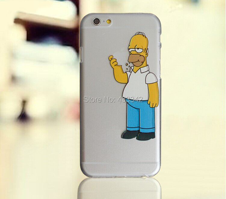 Homer Eating Clear Plastic Case for iPhone 4 4S 5 5S 5C 6 6S 6 Plus