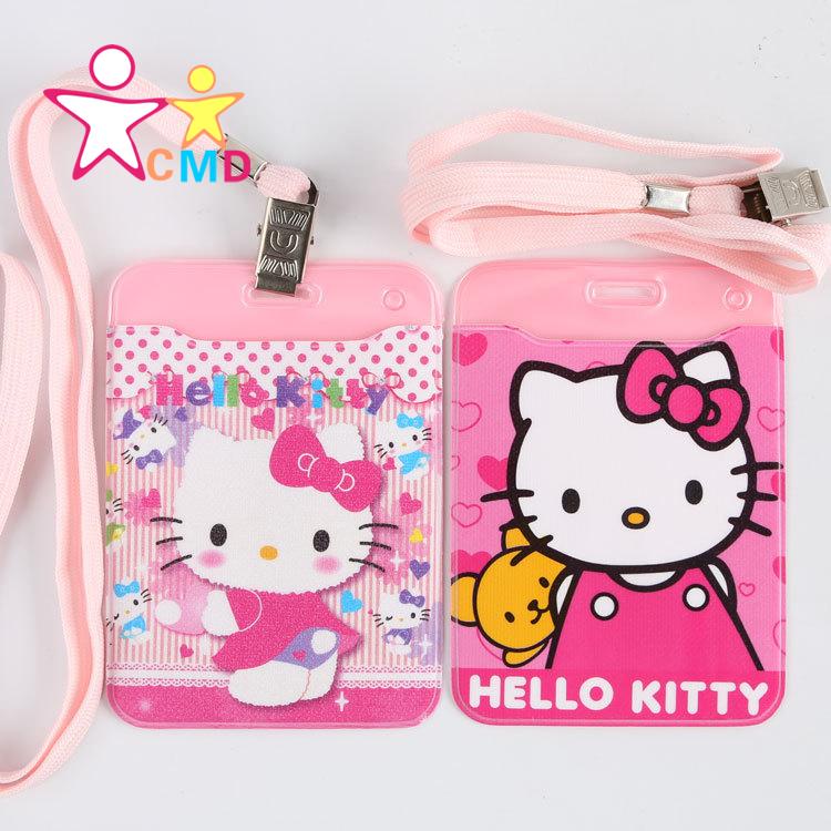 Sanrio Hello Kitty, Hello Kitty, KT cat cartoon bus card set of student card case(China (Mainland))