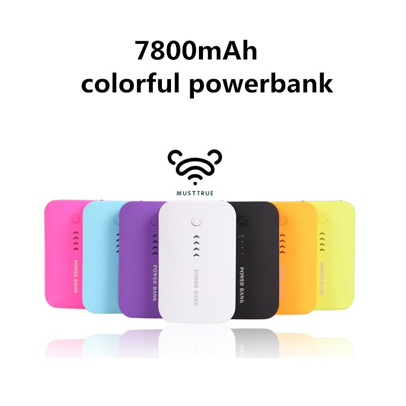 musttrue Power Bank 7800mAh USB External Mobile Backup Powerbank 18650 Battery for iPhone iPod mobile Phone Universal Charger(China (Mainland))