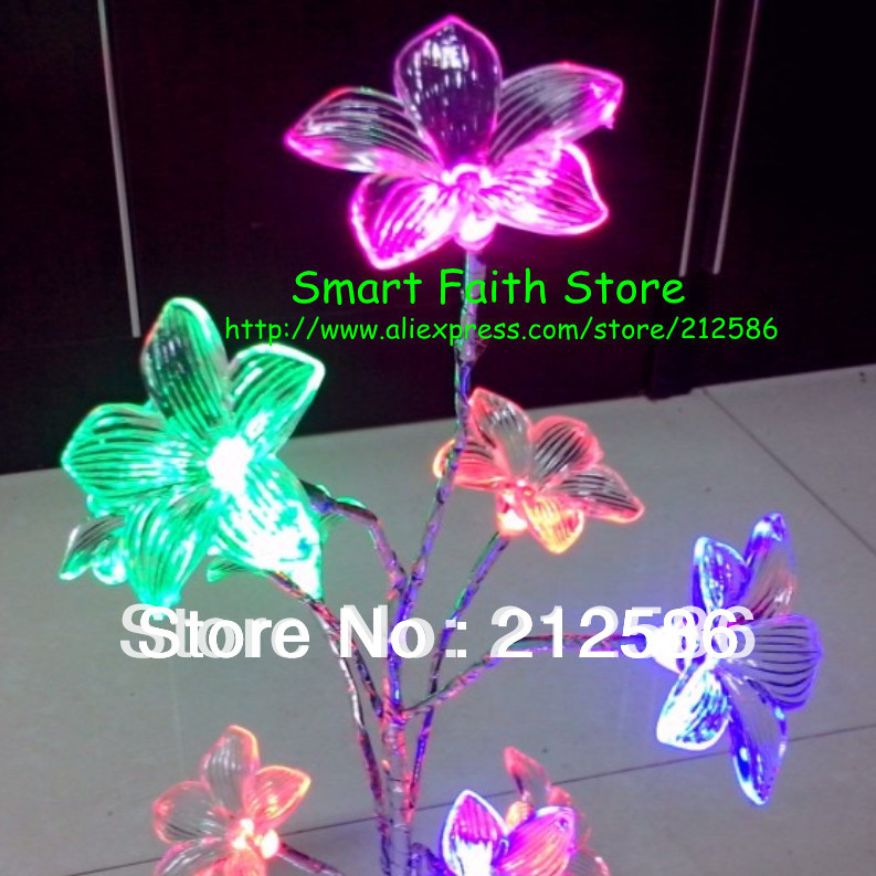 2014 USB line color changing table lamp Lily landscape tree night LED room decorations light - Smart Faith Store store