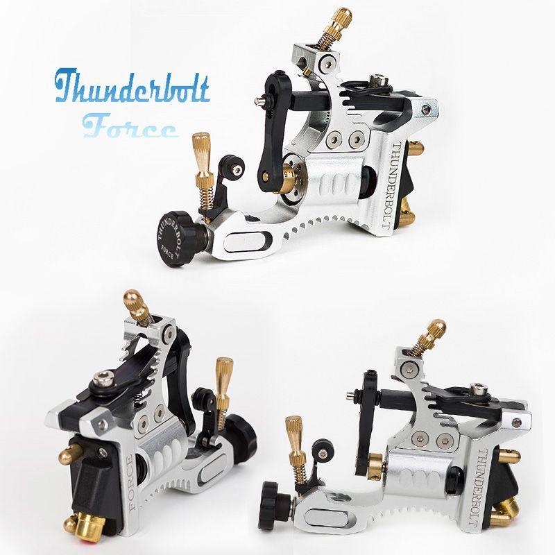 Top Design Swiss Motor Tattoo Machine Silver/Black Thunderbolt Force Rotary Tattoo Machine for Tattoo Body Art(China (Mainland))