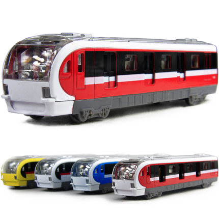 Electronic Musical And Light Metro Subway Train Pullback Model Diecast Toy Vehicle Models W(China (Mainland))