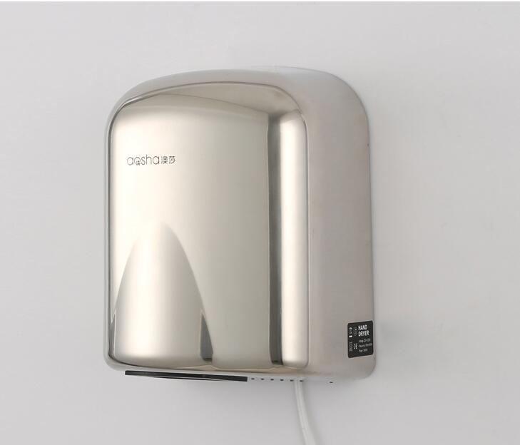 Бесплатная доставка полностью автоматическая толковейшая индукция высокоскоростной нержавеющей стали сушильщика руки воздуха сушилки для рук