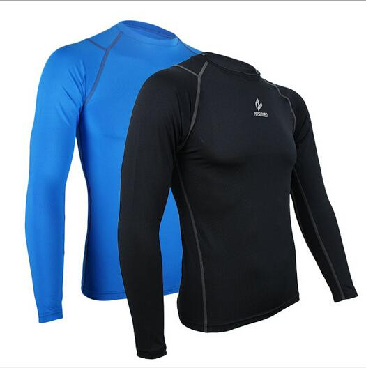 ARSUXEO Men Compression Tights Quick-dry Thermal Sports Jerseys Outdoor Running Cycling Base Layer Fitness Football Men Shirts L(China (Mainland))