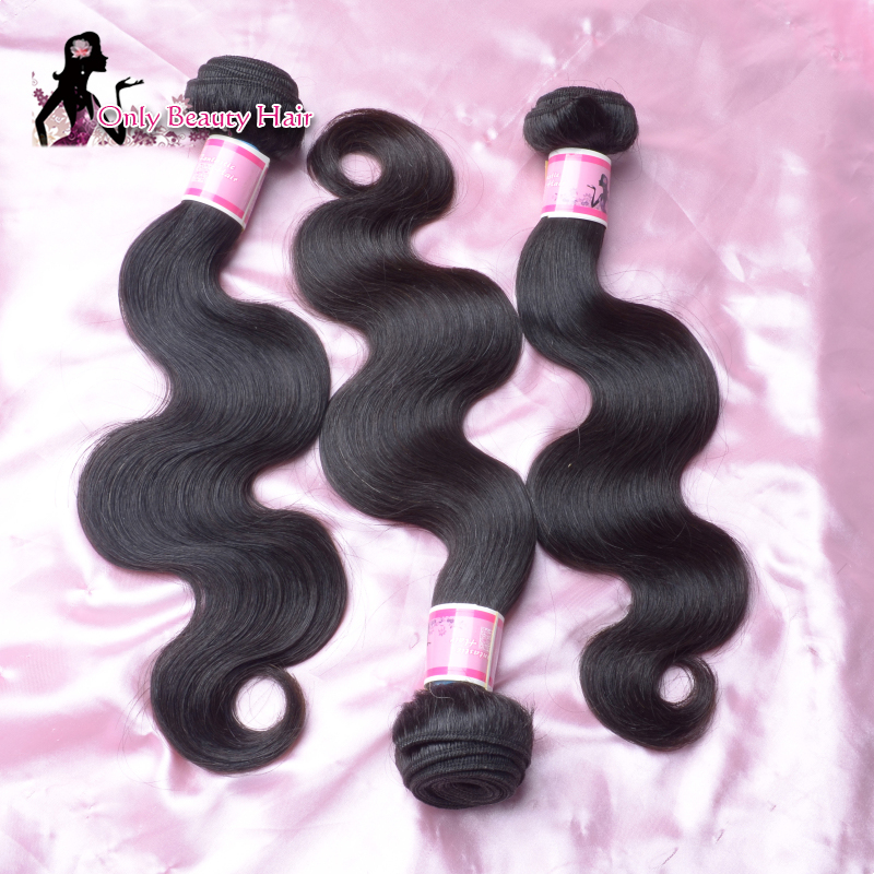 Hot Selling Natural Brazilian Virgin Hair Brazilian Body Wave 100 Human Hair Extension Virgin Brazilian Hair 3pcs Free Shipping(China (Mainland))