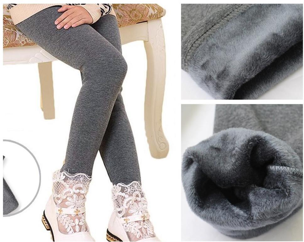 Гаджет  Girl Leggings New Fashion Baby Girls Pants 4 Colors Winter Leggings 3-11Y Kids Plus Velvet Warm Pants For Girl Children Trousers None Детские товары