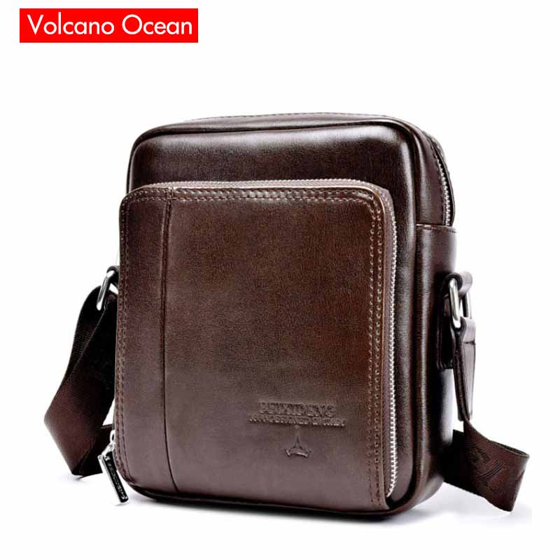 2015 Hot Sale Vintage Genuine Leather And PU Small Bag Men Messenger Bags Mini Mobile Phone Fashion Men's Shoulder Bags(China (Mainland))