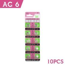 10 Pcs AG6 LR920 LR921 SR69 Watch Battery Coin Cells Button Batteries Alkaline